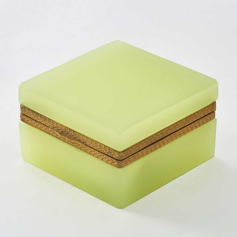 Murano Square Yellow Opaque Glass Box