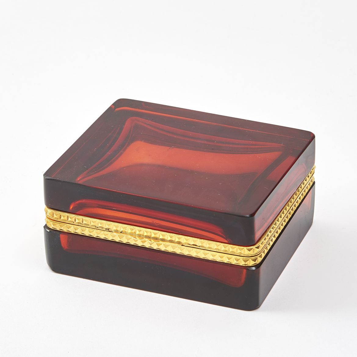 Italian Red Glass Box