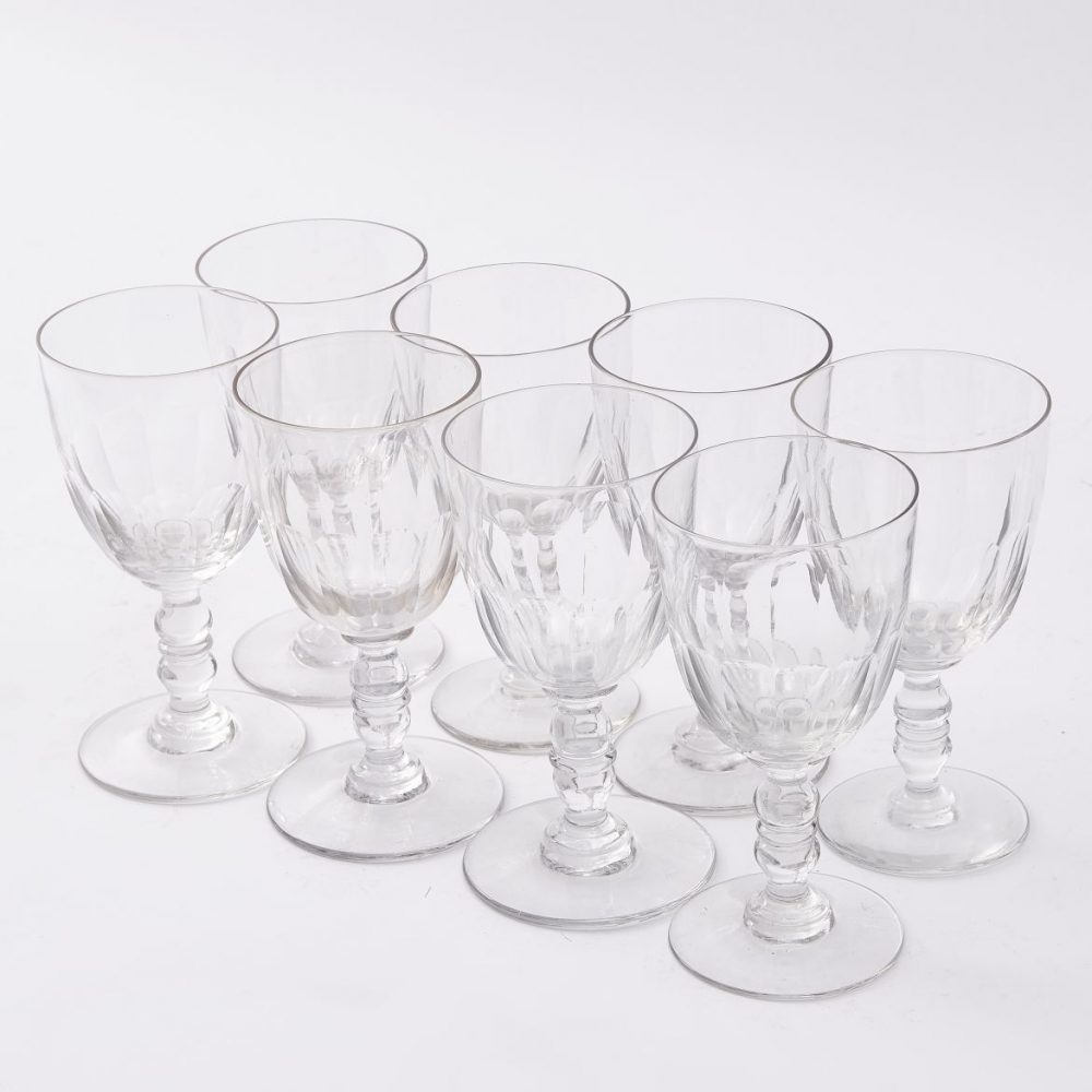 Set Eight French Wine Glasses