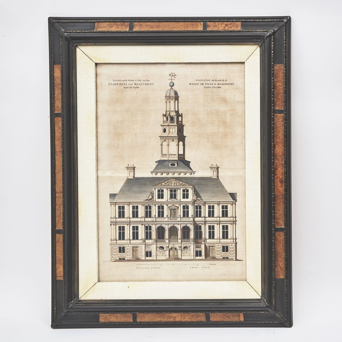 Hand-Coloured Architectural Etching