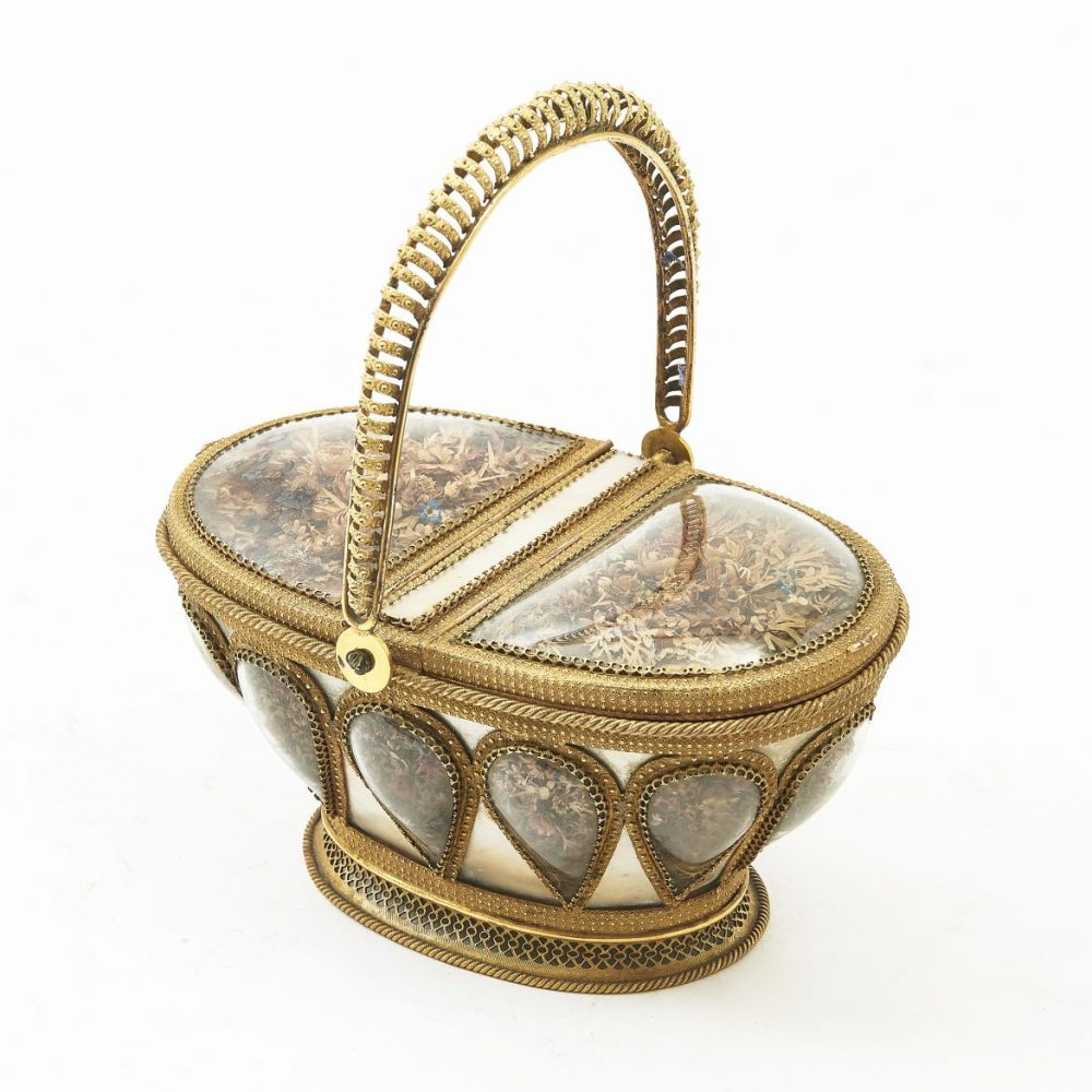 French Palais Royale Ormolu And Mother Of Pearl Basket