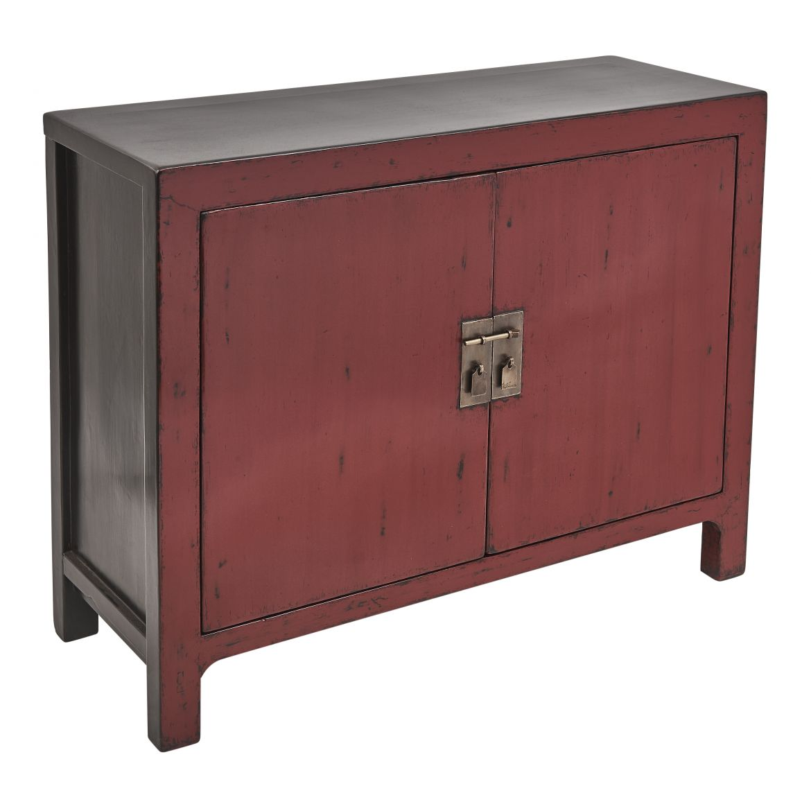 Chinese Shanxi Province Red Lacquer Cabinet