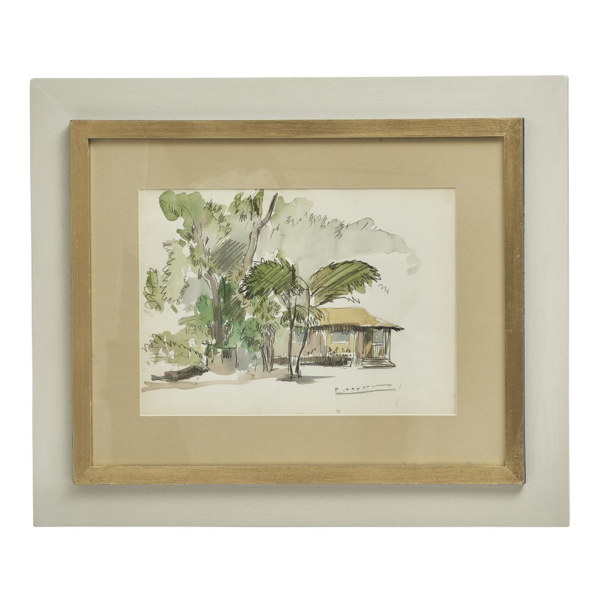 Framed Paul Daxhelet Watercolour