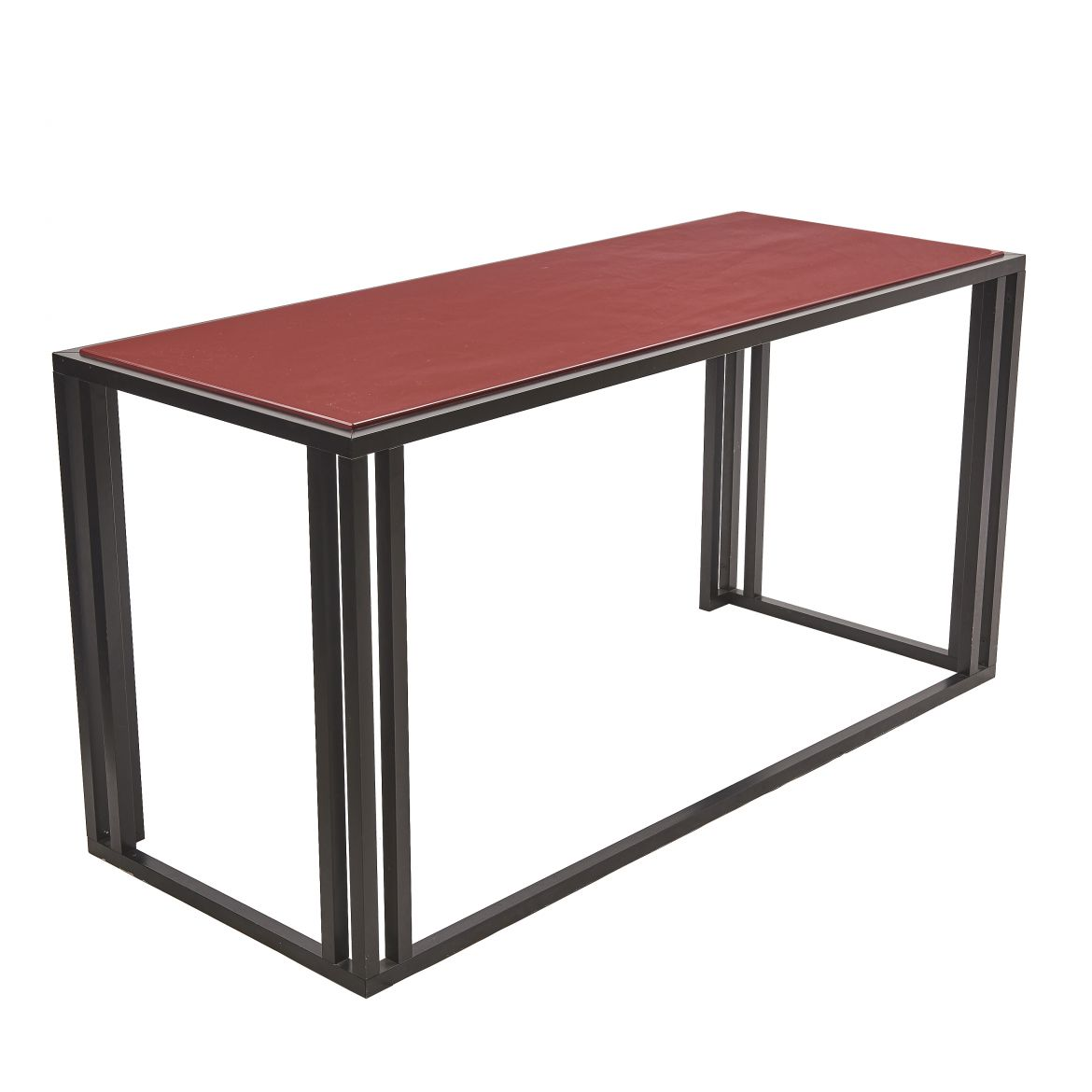 Console Table By George Ciancimino With Red Lacquer Top