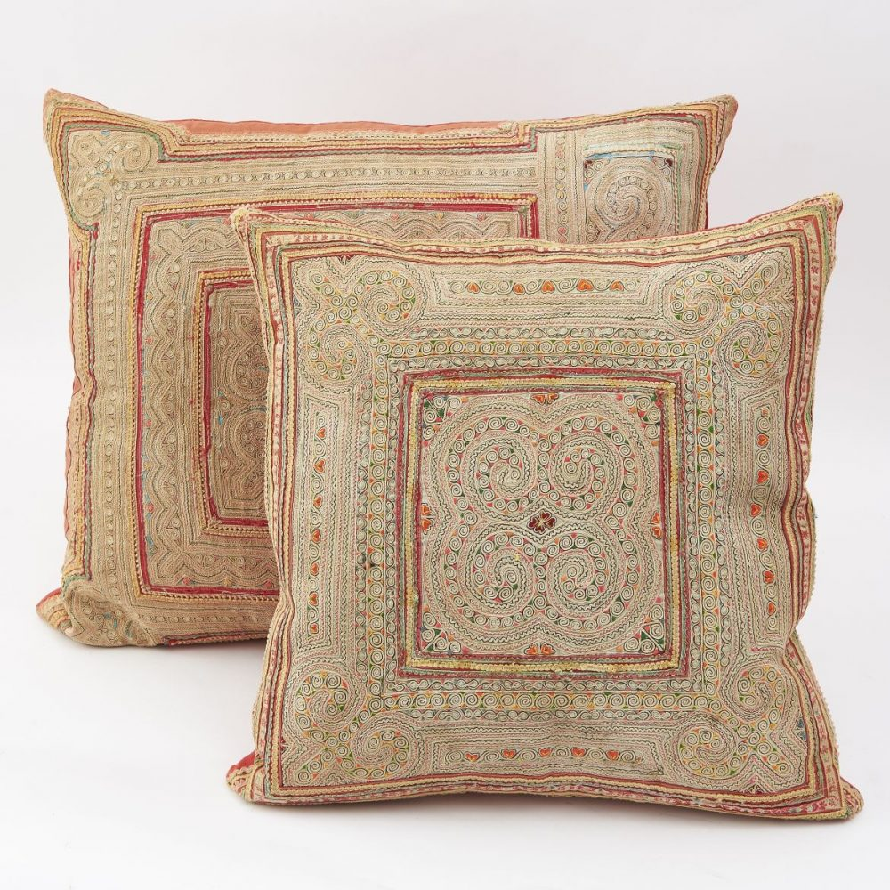 Chinese Red Miao Fabric Cushions