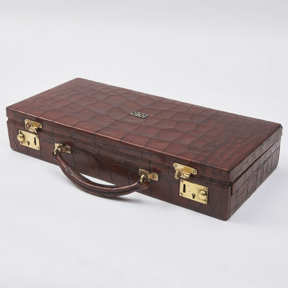 Crocodile Jewellery Case With Fitted Interior By Asprey