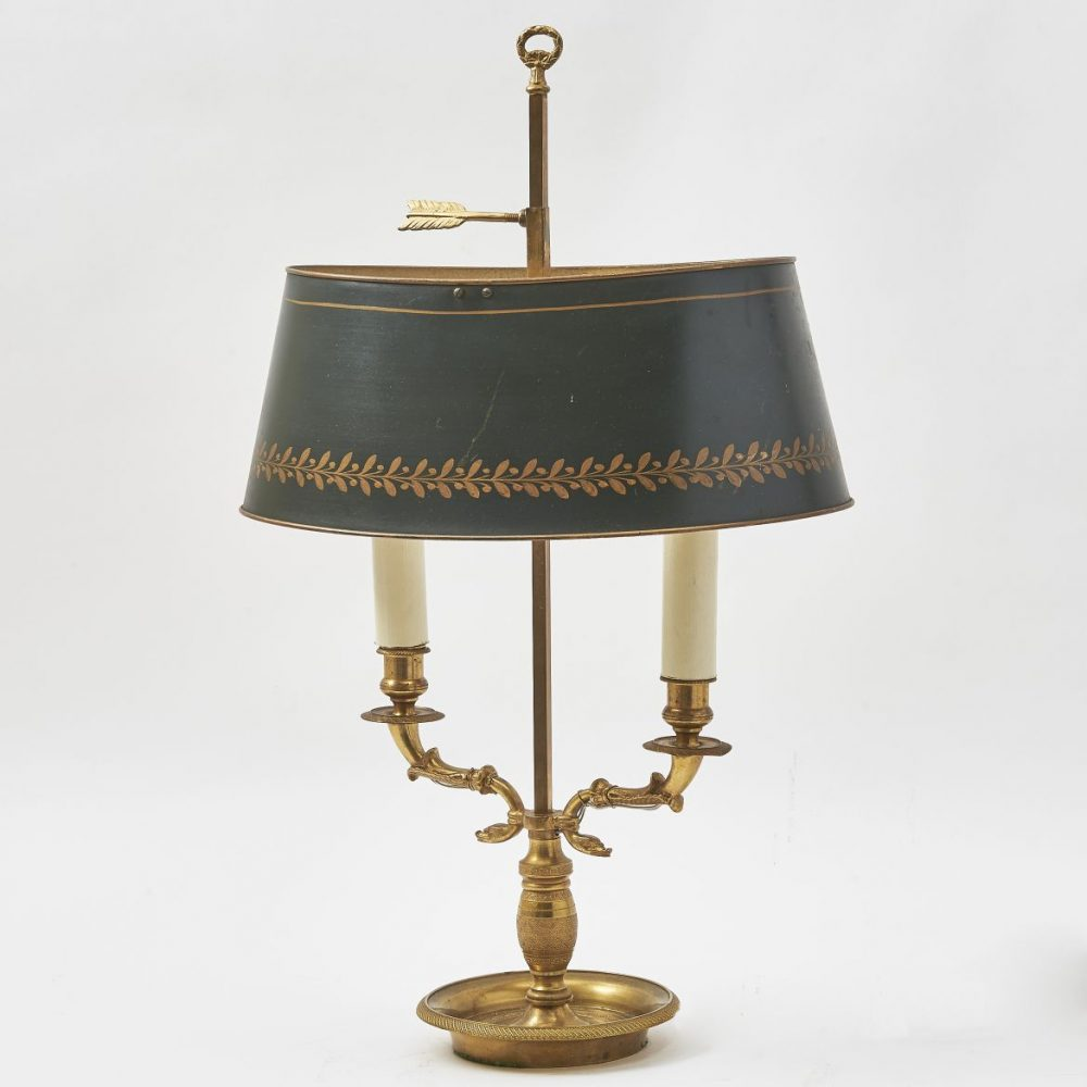 French Louis Philippe Style Bouillote Lamp