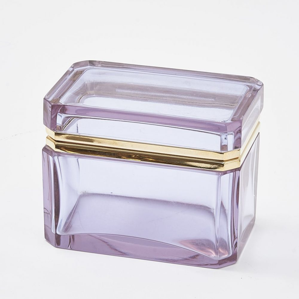 Murano Clear Alexandrite Glass Box