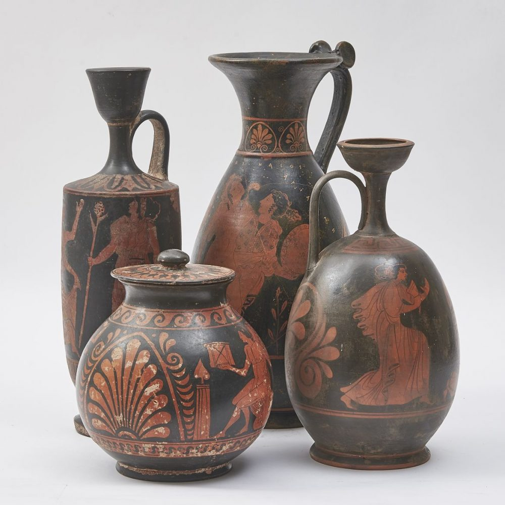 Collection Of Grand Tour Red Figure Vases
