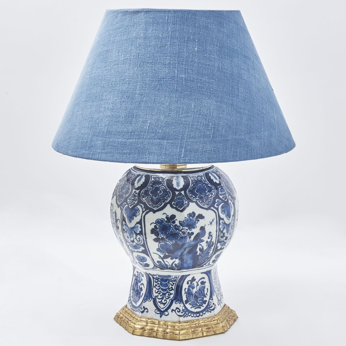 Dutch Delft Vase Wired As A Lamp