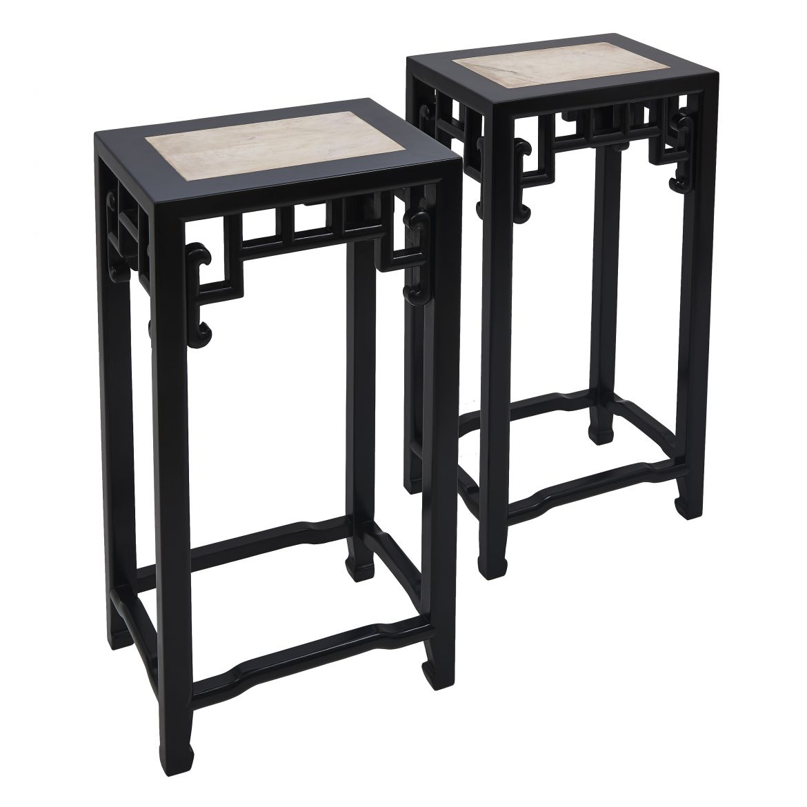 Chinese Black Lacquer Tea Tables