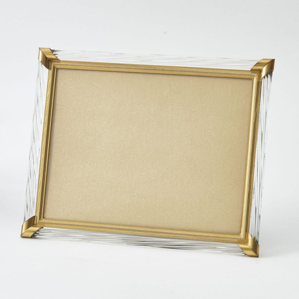 French Gilt Bronze And Twisted Glass Frame