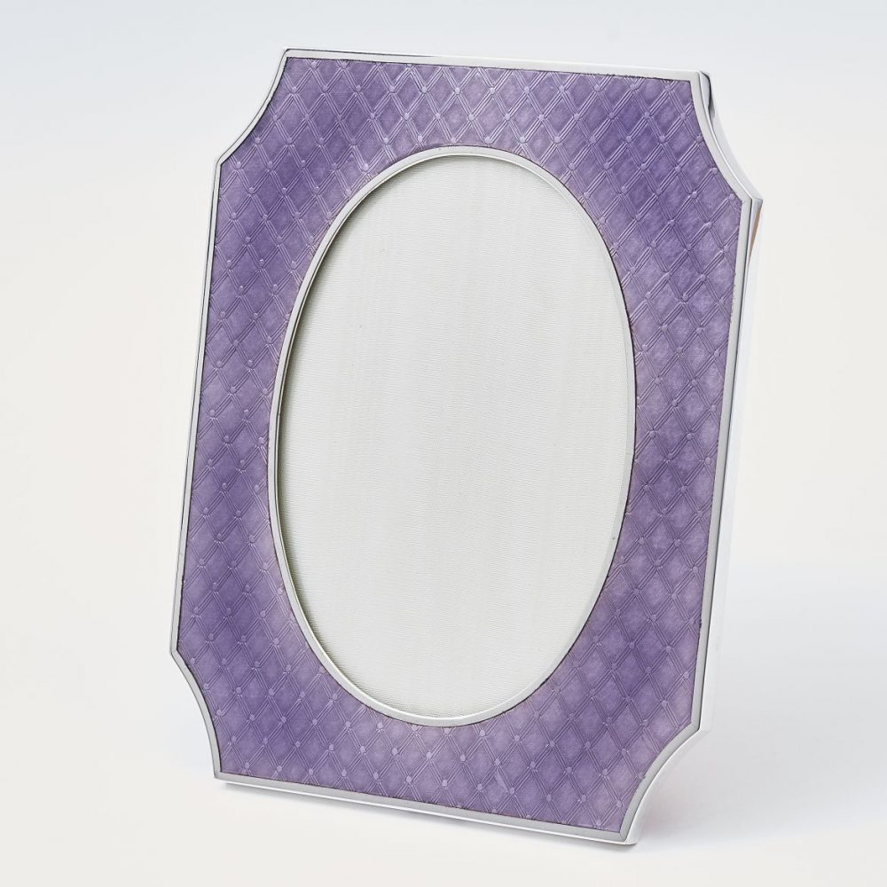 Enamel And Silver Frame