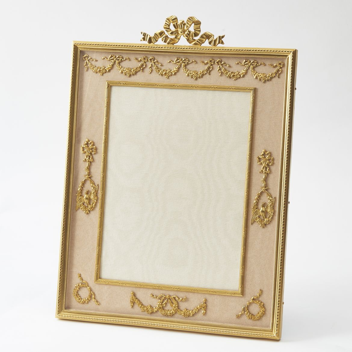 Gilt Bronze Frame With Applied Swag And Ribbon Motifs