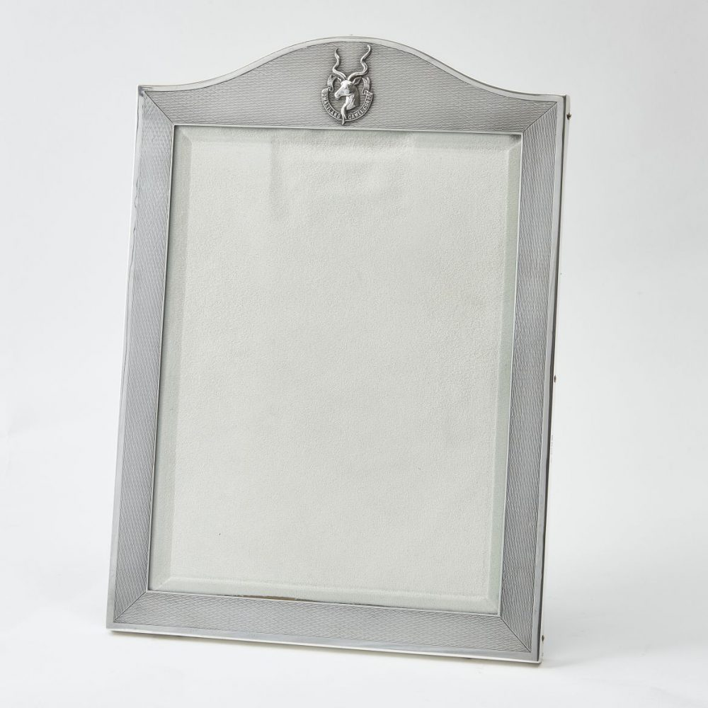 Silver Engine Turned Frame With Somaliland Camel Corps Crest