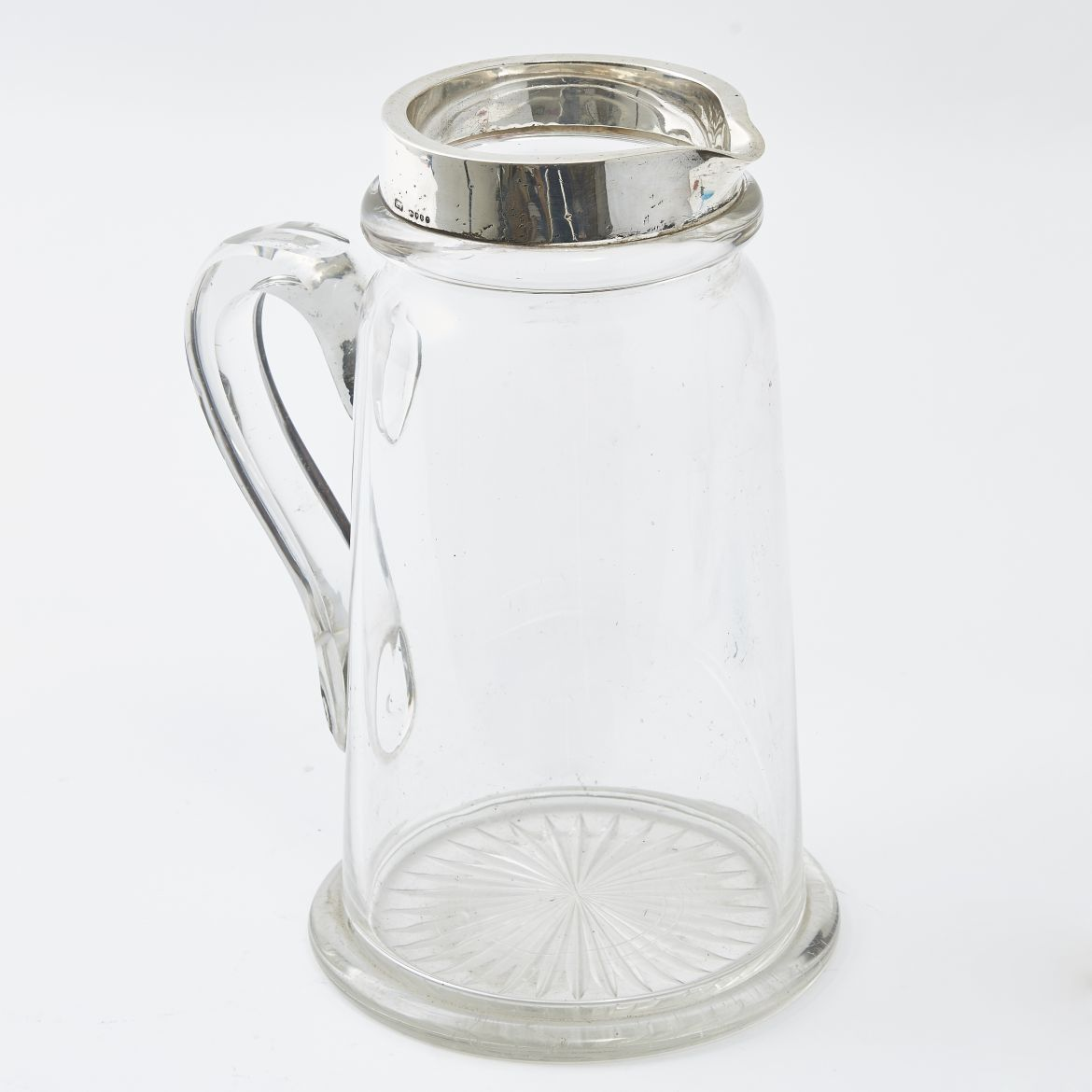 Victorian Silver Mounted Glass Jug