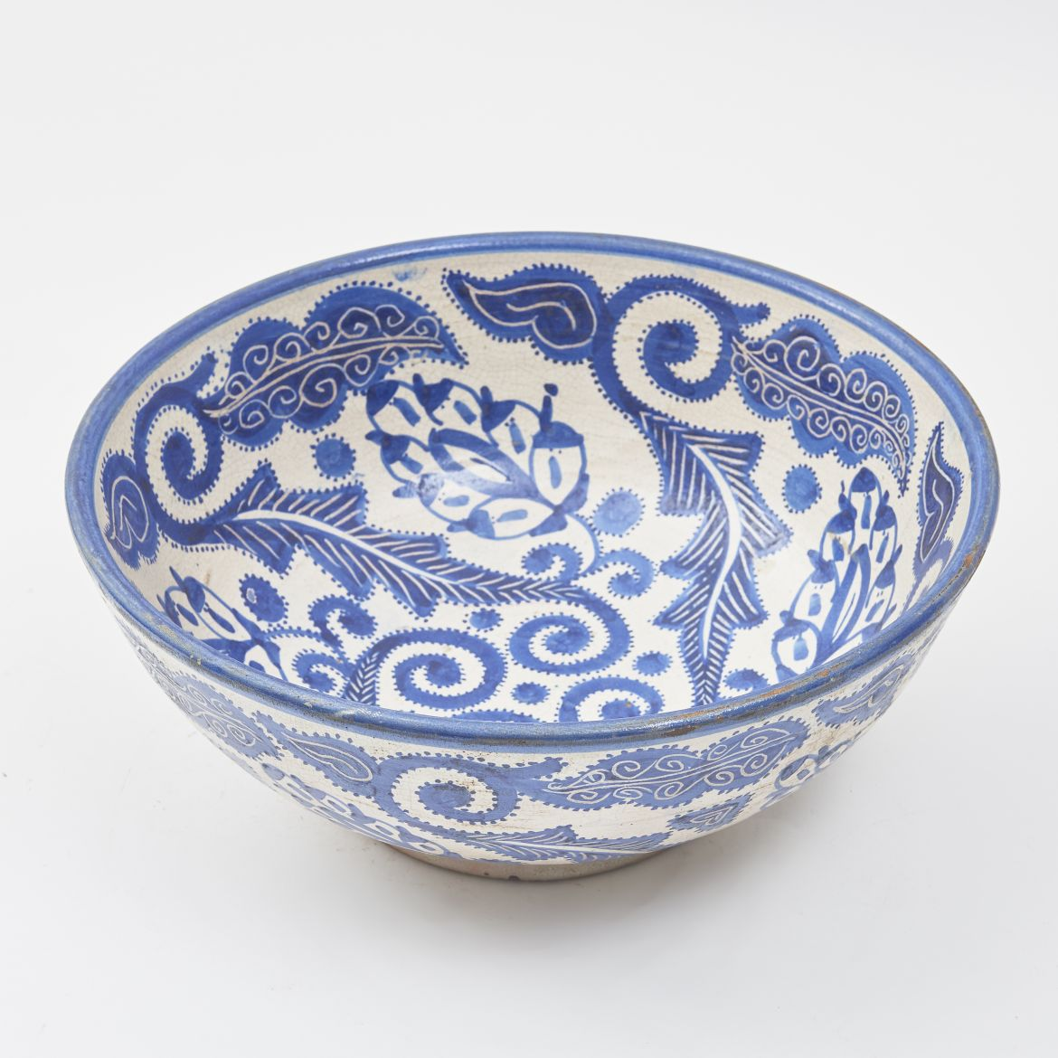 Blue And White Moroccan Bowl