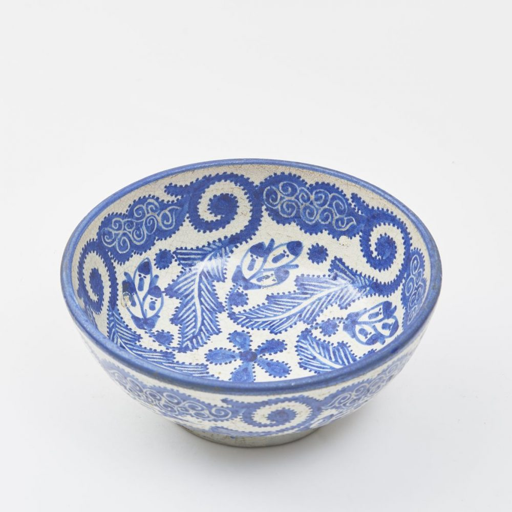 Moroccan Blue And White Bowl