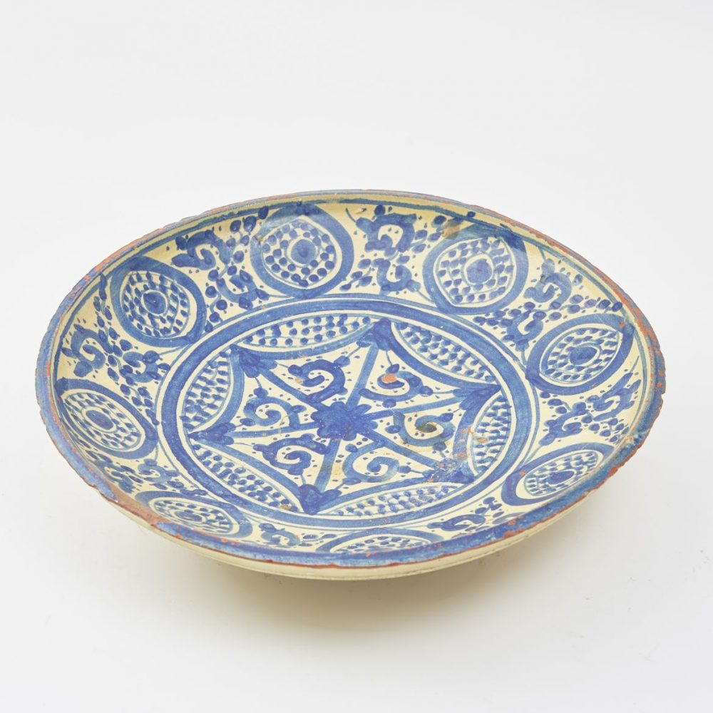 Moroccan Blue And White Decorated Plate