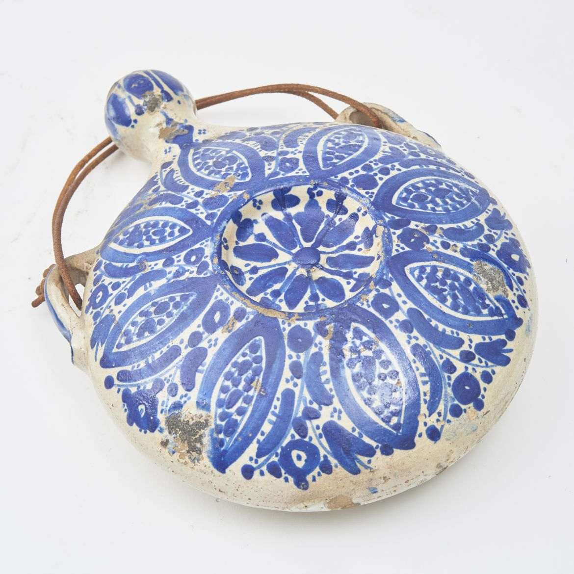 Moroccan Blue And White Gourd