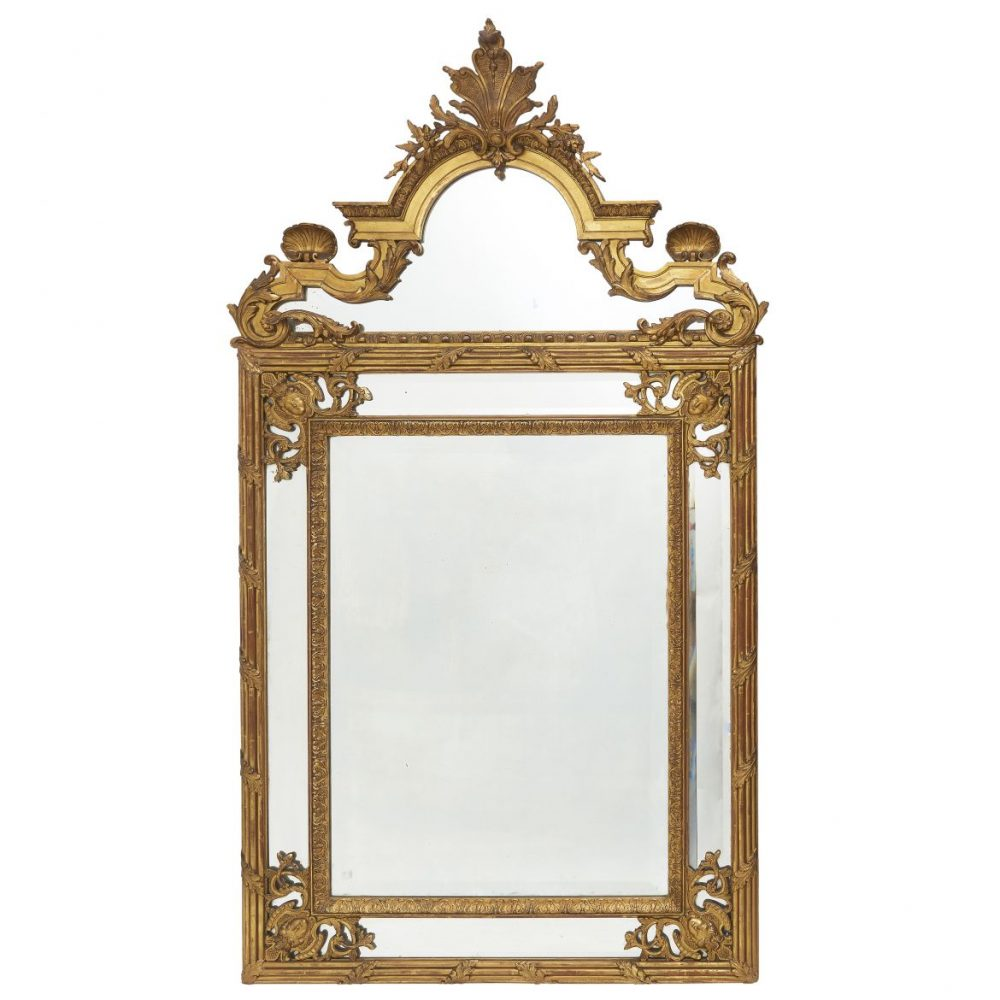 French Regence Style Giltwood Parecloses Mirror