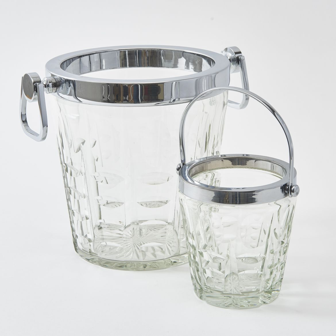 French Cut Glass Champagne Bucket And Ice Bucket