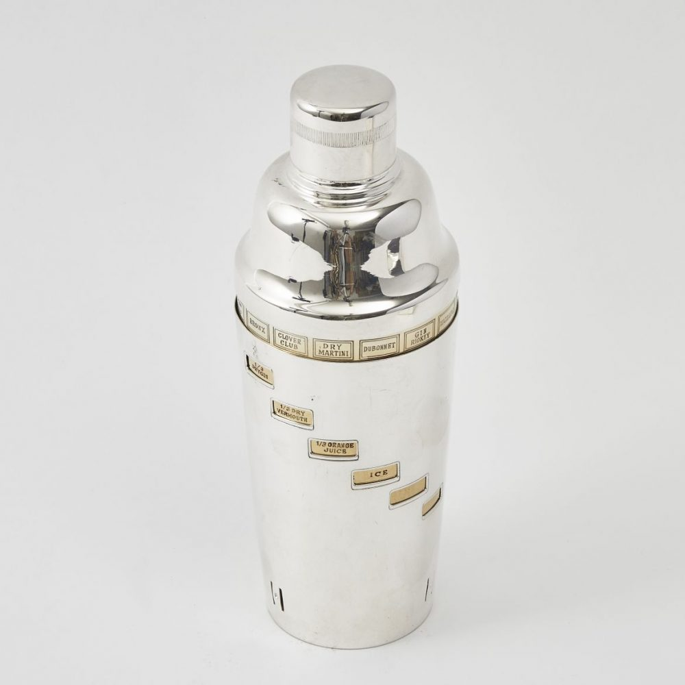 Silver Plate Recipe Cocktail Shaker
