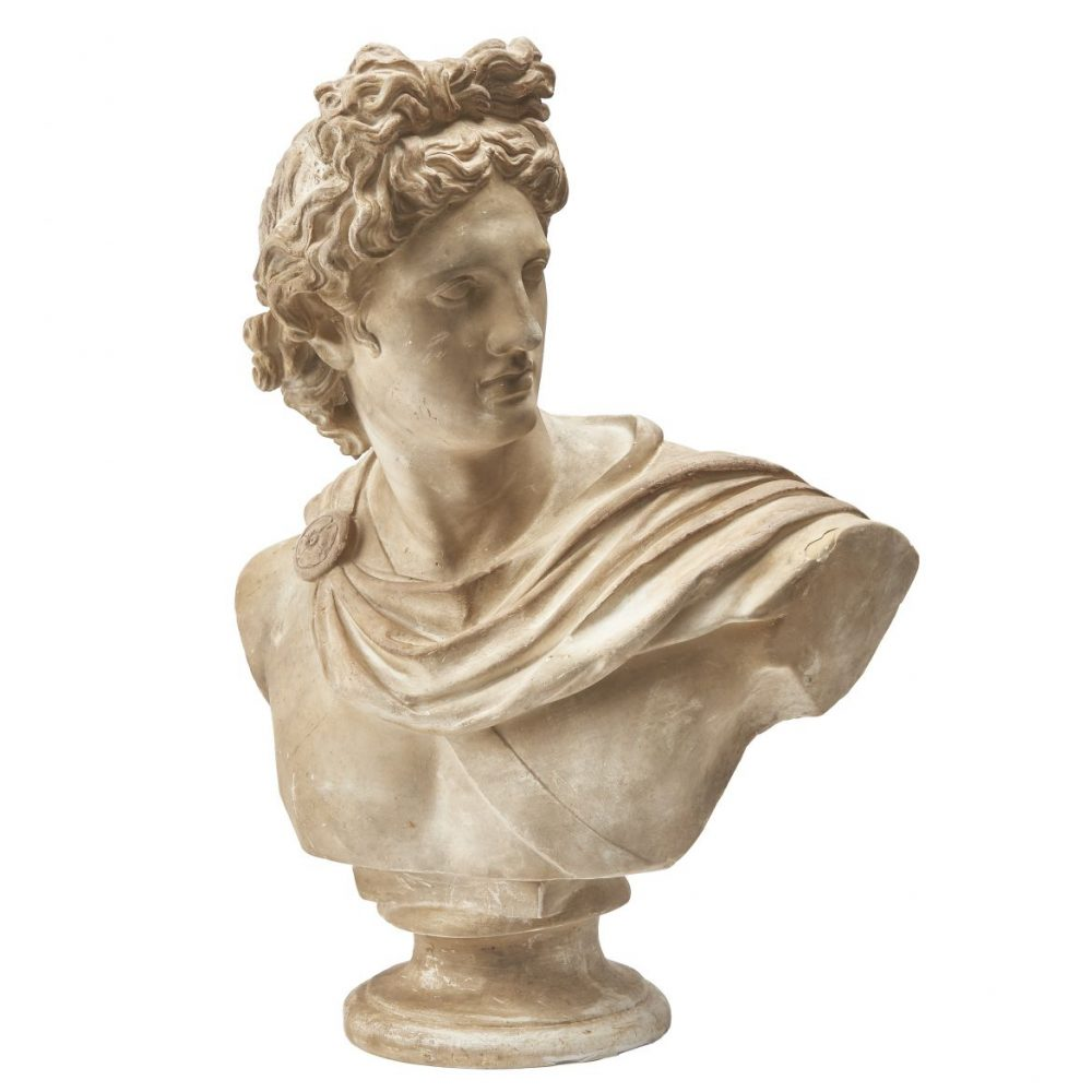 Plaster Bust Of The Apollo Belvedere