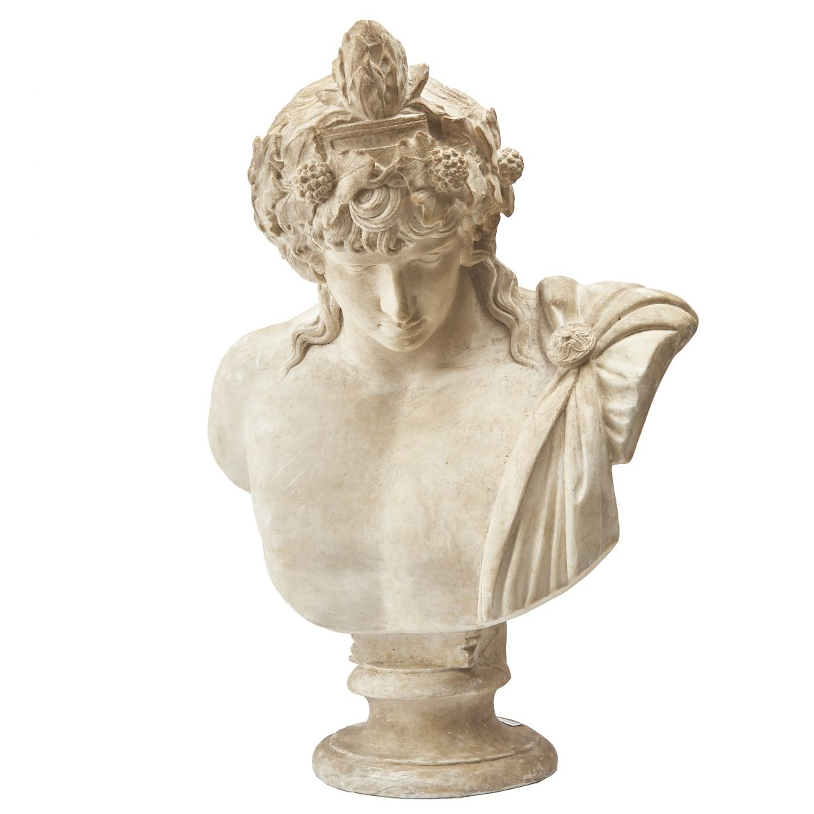 Plaster Bust Of Antinous As Dionysus After The Vatican Original