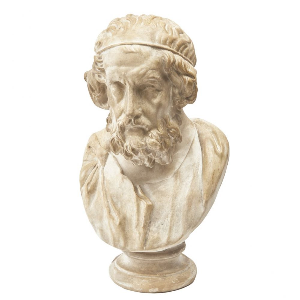 Plaster Bust Of Sophocles After The Antique