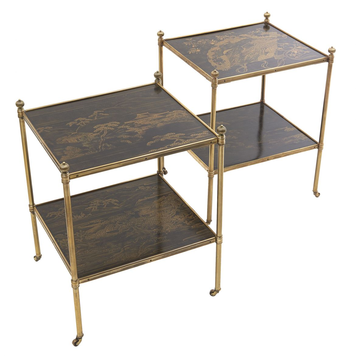 Pair French Chinoiserie Tables