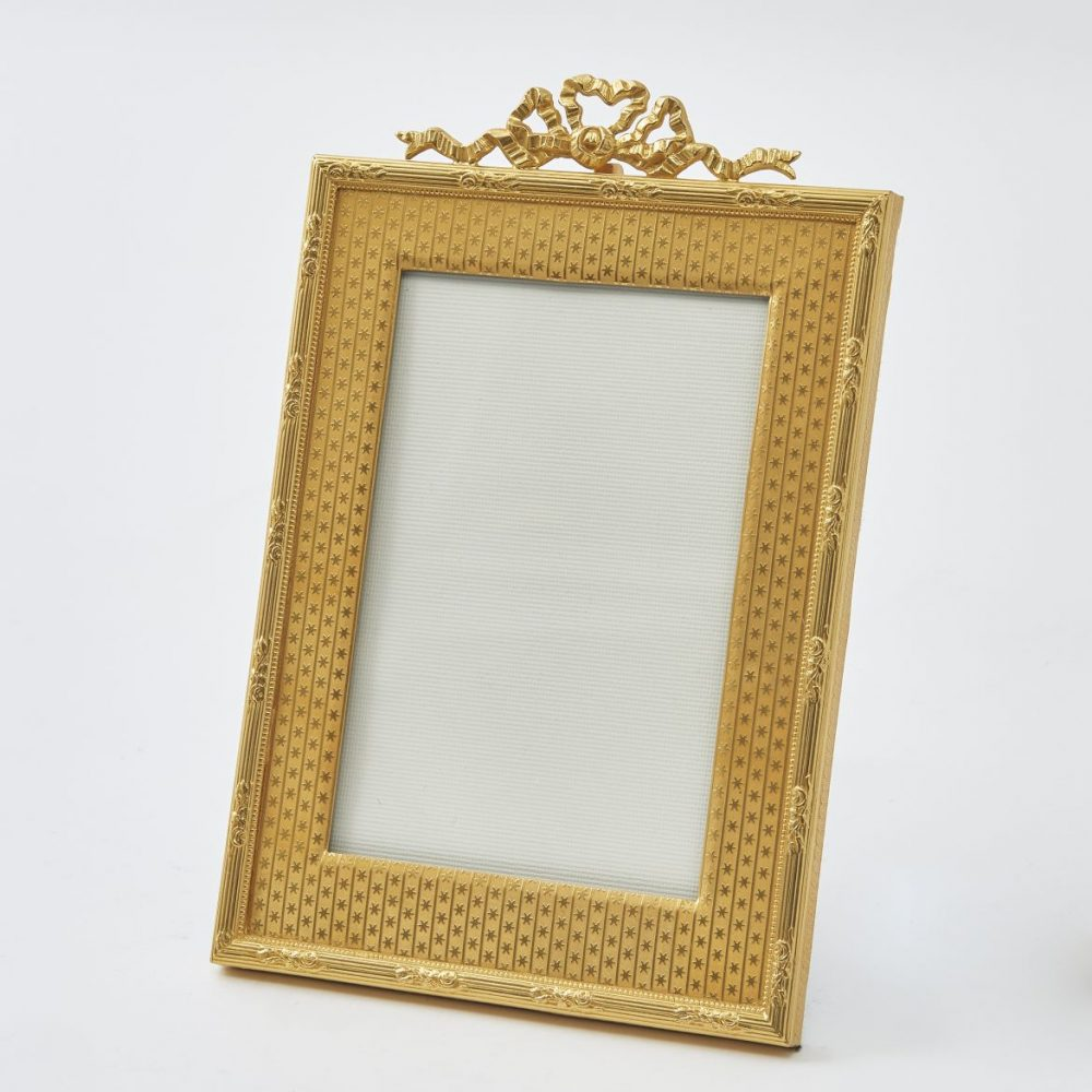 French Ormolu Frame With Bow Detail