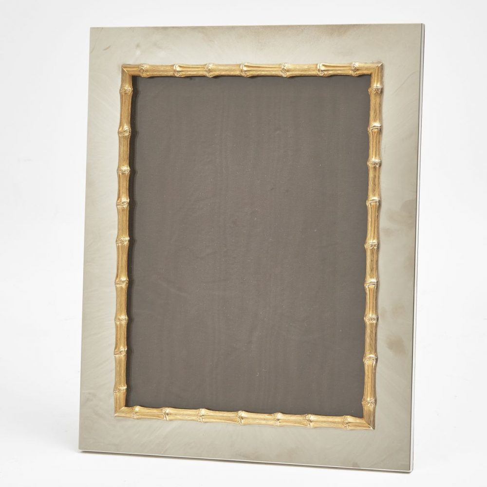 Gucci Silver Plate Frame With Faux Bamboo Decoration