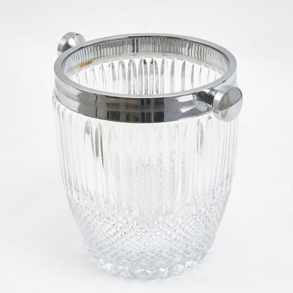 English Moulded And Cut Crystal Champagne Bucket