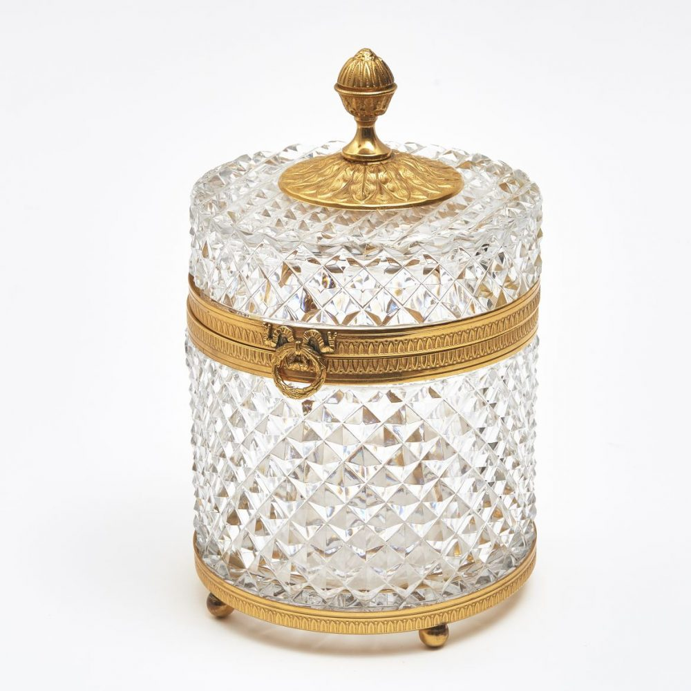 French Cylindrical Crystal Box