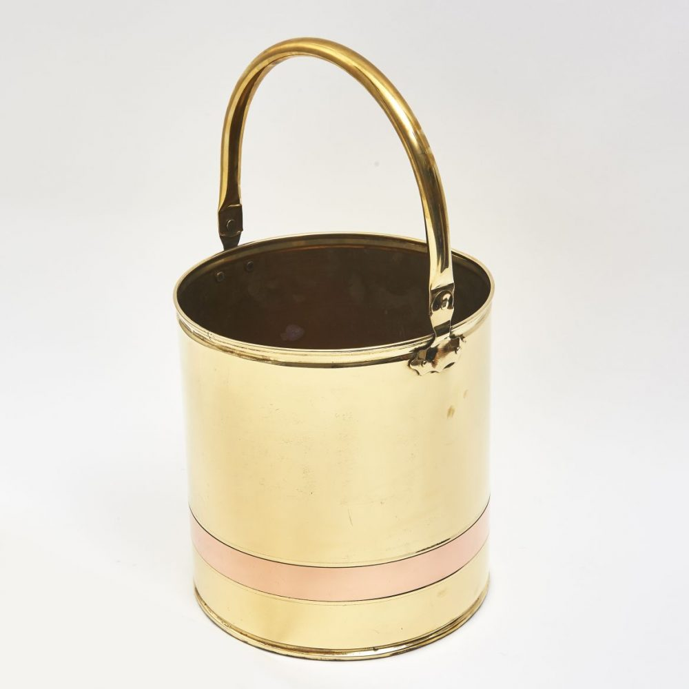 English Brass And Copper Bucket