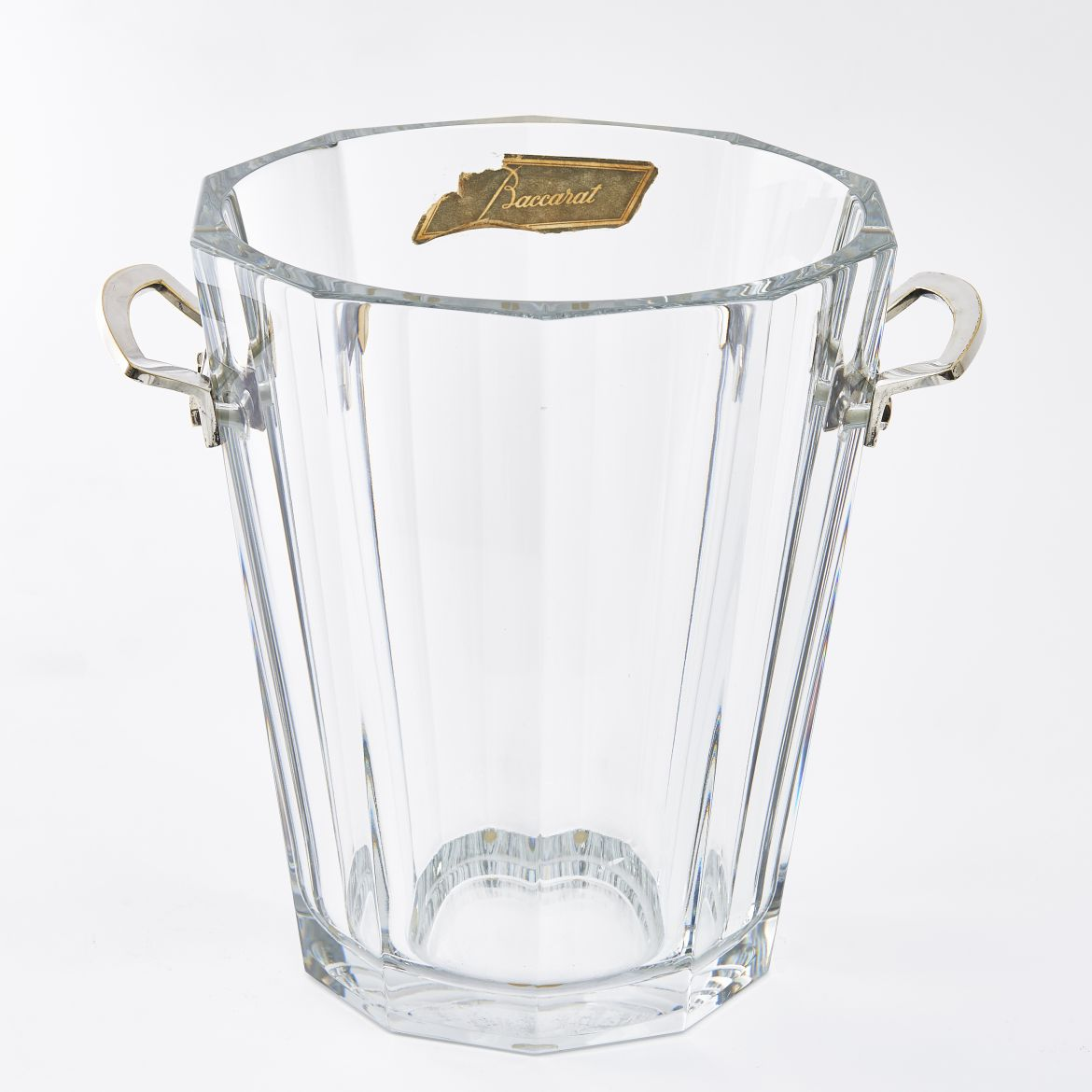 French Baccarat Crystal Champagne Bucket