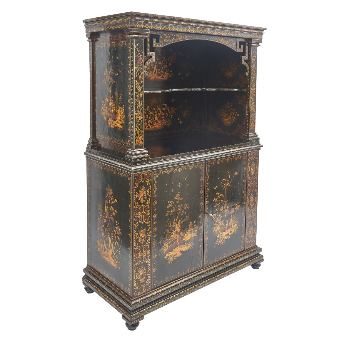 Late Regency Chinoiserie Display Cabinet