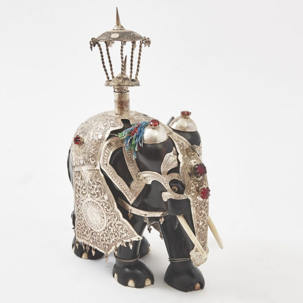 Anglo Indian Elephant with Silver Regalia