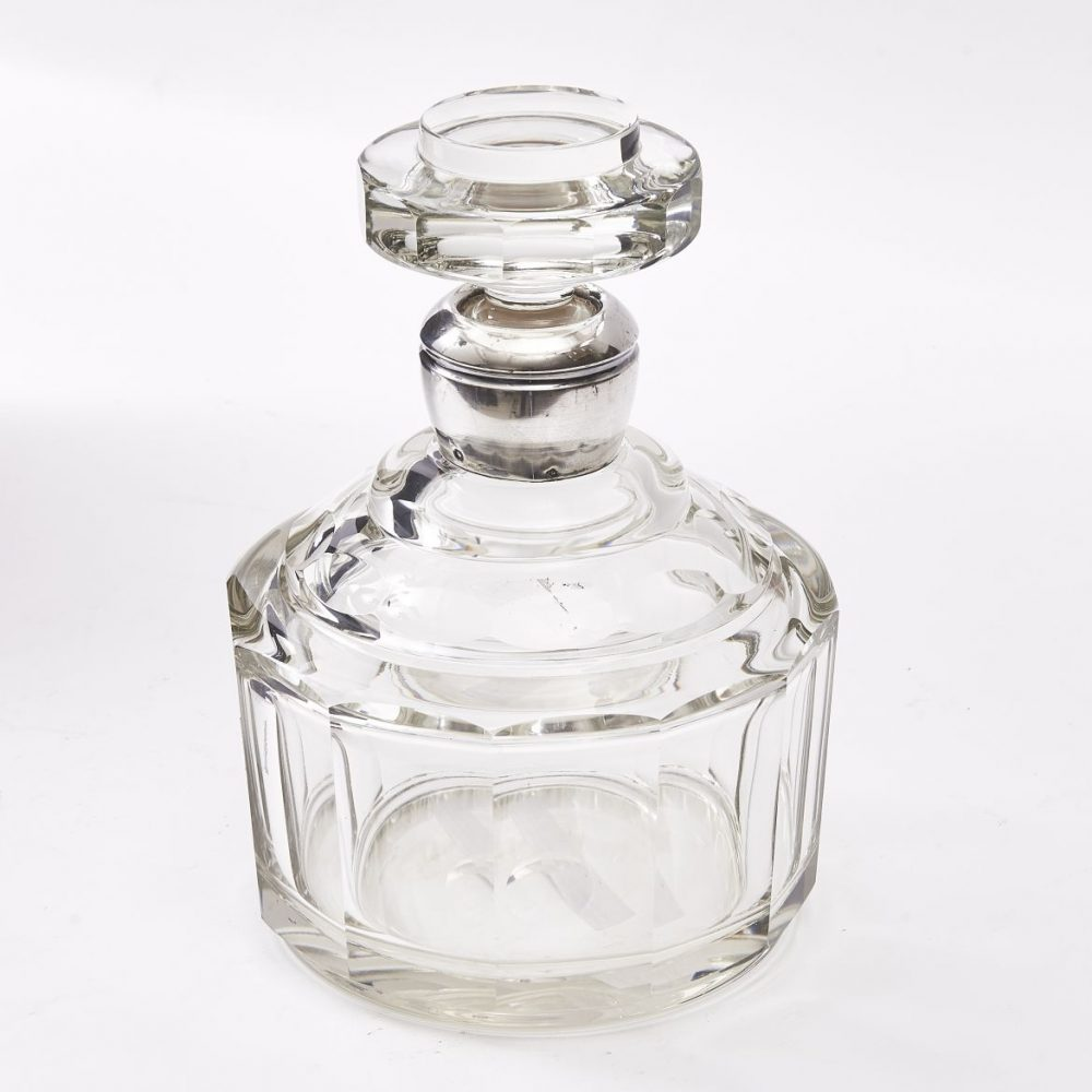French Art Deco Cut Glass Decanter