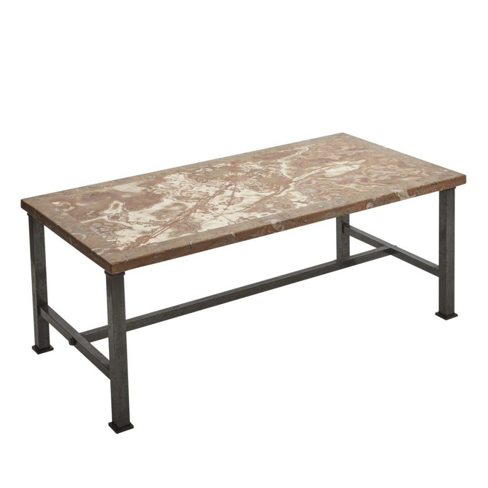 Coffee Table With Alabastro Fiorito And Herreguia Marble Top