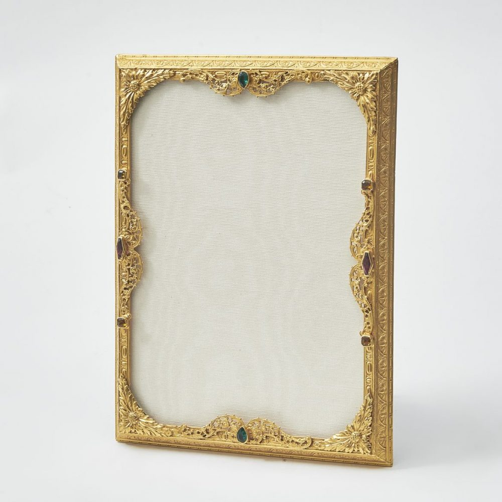 French Ormolu Frame With Colourful Paste Details
