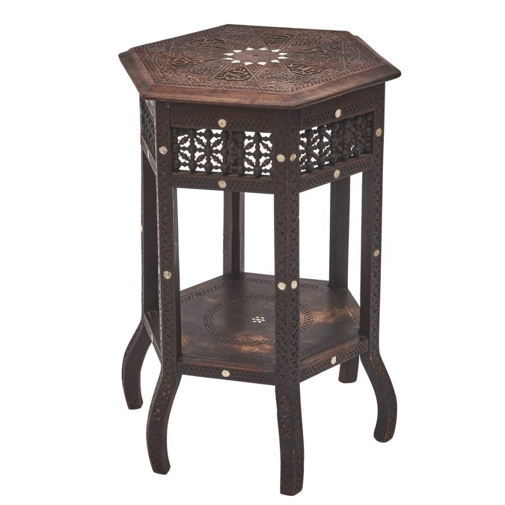 North African Side Table With Arabesque Decoration